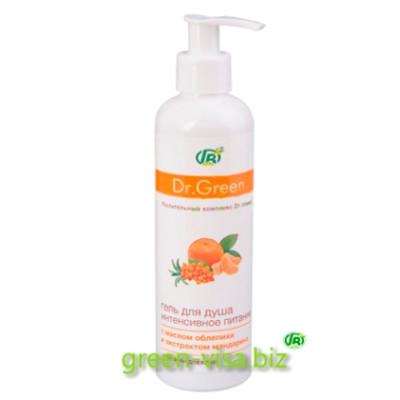 Гель для душа Dr.Green Витамины для кожи Облепиха и мандарин
